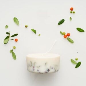 Ashberies_bilberry_leaves_mini_candle